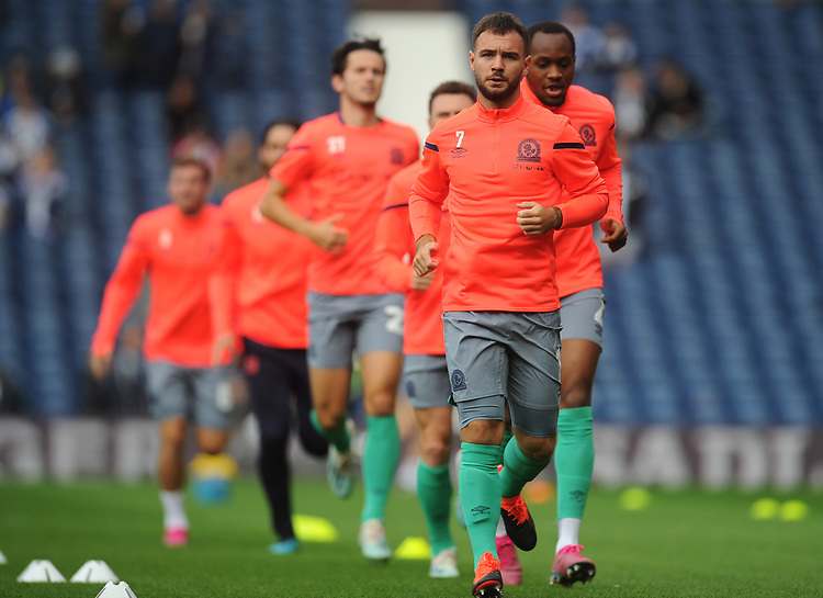 Blackburn Rovers' Adam Armstrong during the pre-match warm-up <br /> <br /> Photographer Kevin Barnes/CameraSport<br /> <br /> The EFL Sky Bet Championship - West Bromwich Albion v Blackburn Rovers - Saturday 31st August 2019 - The Hawthorns - West Bromwich<br /> <br /> World Copyright © 2019 CameraSport. All rights reserved. 43 Linden Ave. Countesthorpe. Leicester. England. LE8 5PG - Tel: +44 (0) 116 277 4147 - admin@camerasport.com - www.camerasport.com