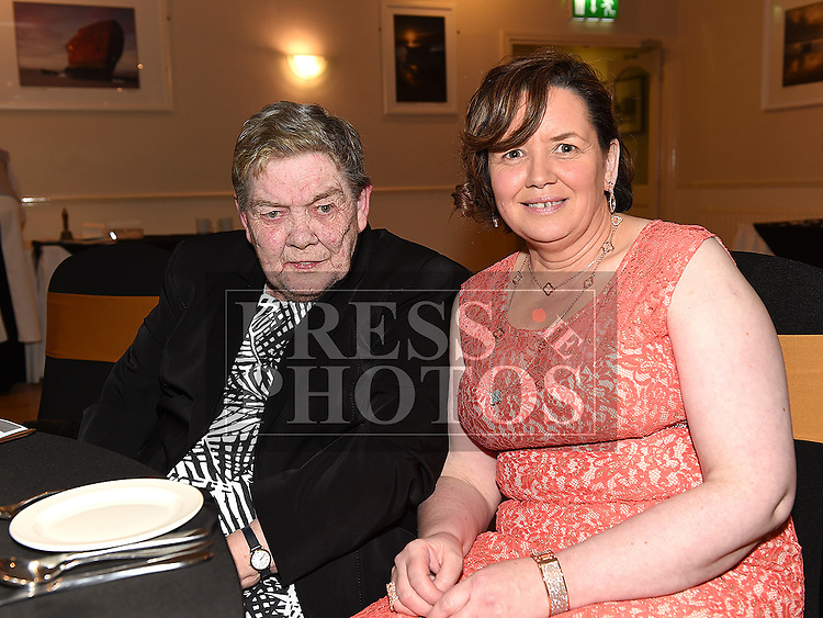 Rita Hanratty celebrating her 50th birthday in The Glenside Hotel with mother Kitty Gibney. Photo:Colin Bell/pressphotos.ie