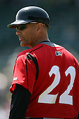 May 13, 2009:  Manager Frank Kemblas of the Indianapolis Indians, International League Class-AAA affiliate of the Pittsburgh Pirates, during a game at Frontier Field in Rochester, FL.  Photo by:  Mike Janes/Four Seam Images