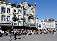Terrassen op de Markt in Den Bosch. Horeca
