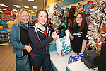 Official opening of new Dealz store in Enniscorthy. First customers Aislinn O'Leary and Alice Medcalf pictured with sales assistant Katie Dawkins. Photo: John Walsh/@Newsfile