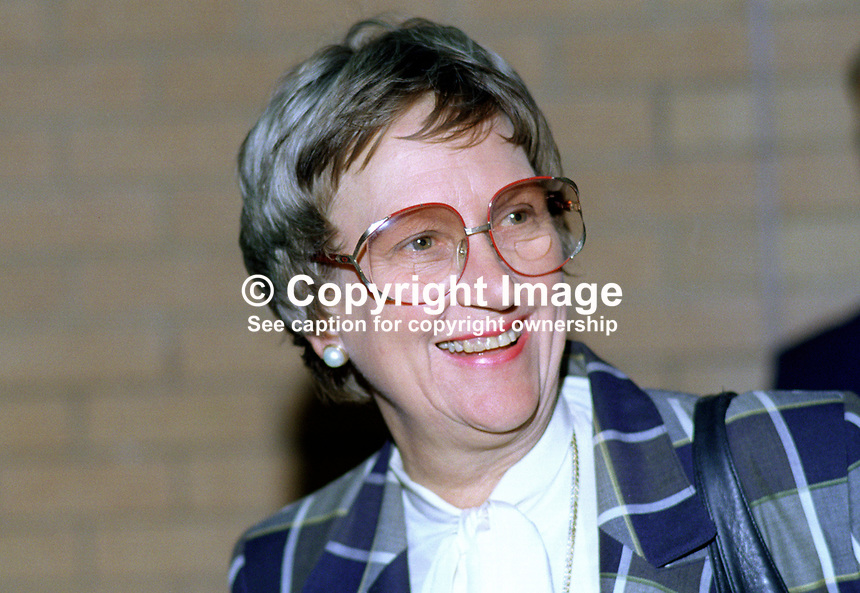 Lady Elspeth Howe, wife, Sir Geoffrey Howe, MP, Conservative Party, UK, 19901050EH1.<br />