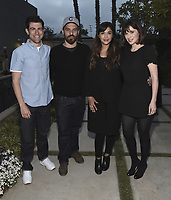 "CULVER CITY, CA - MAY 8:  Max Greenfield, Jake Johnson, Hannah Simone and Zooey Deschanel at Fox's ""New Girl"" screening and recpetion at the Little Theater at the Fox Lot on May 8, 2018 in Culver City, California. (Photo by Scott Kirkland/Fox/PictureGroup)"