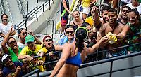 RIO DE JANEIRO, RJ, 05.02.2017 – GIGANTES DA PRAIA – A vice-campeã olímpica Ágatha do Brasil, durante o Desafio de Gigantes da Praia realizado na quadra central de tênis, no Parque Olímpico da Barra da Tijuca, zona oeste da cidade, na manhã desta domingo, 05. (Foto: Jayson Braga / Brazil Photo Press)