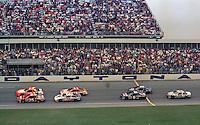 action start Daytona 500 at Daytona International Speedway on February 19, 1989.  (Photo by Brian Cleary/www.bcpix.xom)