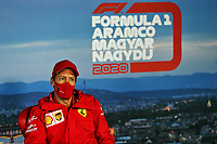 16th July 2020, Hungaroring, Budapest, Hungary; F1 Grand Prix of Hungary, drivers arrival and track inspection day;  5 Sebastian Vettel GER, Scuderia Ferrari Mission Winnow