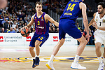 Kevin Pangos of FC Barcelona Lassa during Turkish Airlines Euroleague match between Real Madrid and FC Barcelona Lassa at Wizink Center in Madrid, Spain. December 13, 2018. (ALTERPHOTOS/Borja B.Hojas)