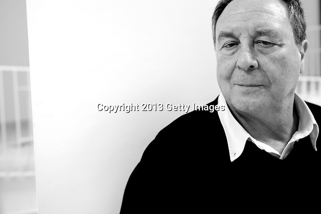 MADRID, SPAIN - MARCH 06: Spanish written Vicente Verdu poses during a portrait session before the presentation of his book 'Apocalipsis Now' at Centro Cultural de Sanchinarro on March 6, 2013 in Madrid, Spain.  (Photo by Juan Naharro Gimenez)
