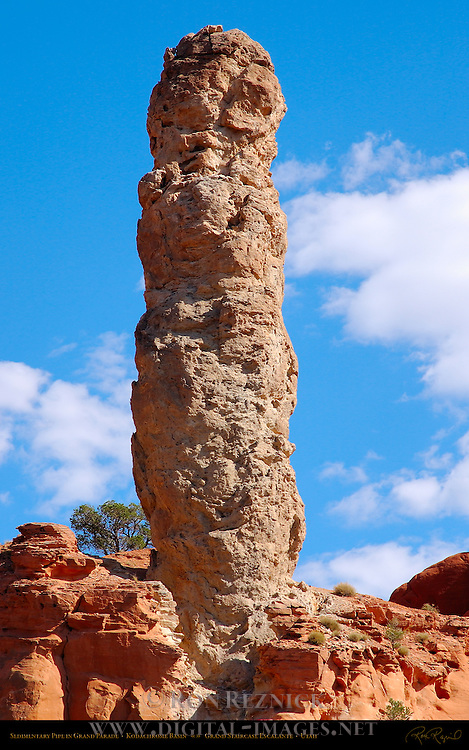 Sedimentary Pipe in Grand Parade, Kodachrome Basin State Park, Grand Staircase Escalante, Utah