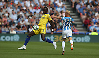 Chelsea's Antonio Rudiger battles with Huddersfield Town's Alex Pritchard <br /> <br /> Photographer Stephen White/CameraSport<br /> <br /> The Premier League - Huddersfield Town v Chelsea - Saturday August 11th 2018 - The John Smith&rsquo;s Stadium<br />  - Huddersfield<br /> <br /> World Copyright &copy; 2018 CameraSport. All rights reserved. 43 Linden Ave. Countesthorpe. Leicester. England. LE8 5PG - Tel: +44 (0) 116 277 4147 - admin@camerasport.com - www.camerasport.com