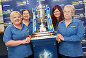 Staff at William Hill's Bannockburn Road, Stirling office with the Scottish Cup.