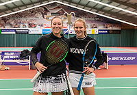 Wateringen, The Netherlands, December 8,  2019, De Rhijenhof , NOJK juniors 14 and18 years, Finals girls 18 years: t with Anouk Koevermans (NED) (L) and Sophie Schouten (NED)<br /> Photo: www.tennisimages.com/Henk Koster