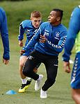 01.08.2018 Rangers training: Alfredo Morelos and Greg Docherty