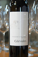 Cervoles 1999 red. Castel del Remei, Costers del Segre, Catalonia, Spain.