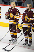 Keegan Flaherty (Duluth - 14), Brady Lamb (Duluth - 2) - The University of Minnesota-Duluth Bulldogs defeated the University of Michigan Wolverines 3-2 (OT) to win the 2011 D1 National Championship on Saturday, April 9, 2011, at the Xcel Energy Center in St. Paul, Minnesota.