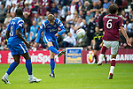 Hearts v St Johnstone...14.08.10  .Murray Davidson's shot a goal goes over the bar.Picture by Graeme Hart..Copyright Perthshire Picture Agency.Tel: 01738 623350  Mobile: 07990 594431