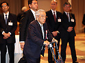 January 5, 2017, Tokyo, Japan - Toyota Motor honorary chairman Shoichiro Toyoda, father of Toyota president Akio Toyoda attends Japanese automobile industry associations' New Year party at a Tokyo hotel on Tuesday, January 5, 2017.  (Photo by Yoshio Tsunoda/AFLO)