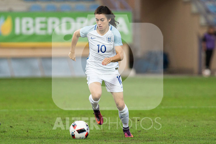 England's Karen Carney during the frendly match between woman teams of  Spain and England at Fernando Escartin Stadium in Guadalajara, Spain. October 25, 2016. (ALTERPHOTOS/Rodrigo Jimenez)