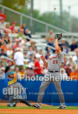 11 March 2008: Detroit Tigers' infielder Mike Hessman in action during a Spring Training game against the Cleveland Indians at Chain of Lakes Park, in Winter Haven Florida. The Tigers rallied to defeat the Indians 4-2 in the Grapefruit League matchup...Mandatory Photo Credit: Ed Wolfstein Photo
