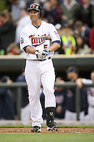 April 2, 2010: Michael Cuddyer of the Minnesota Twins in the first professional baseball game played at the Twins new home, Target Field. Photo by: Chris Proctor/Four Seam Images