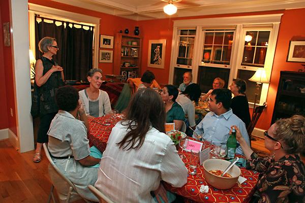 (110525RREI1006) Judy Byron's Perfect Girls conversation dinner, Washington DC . May 25, 2011 © Rick Reinhard 2011