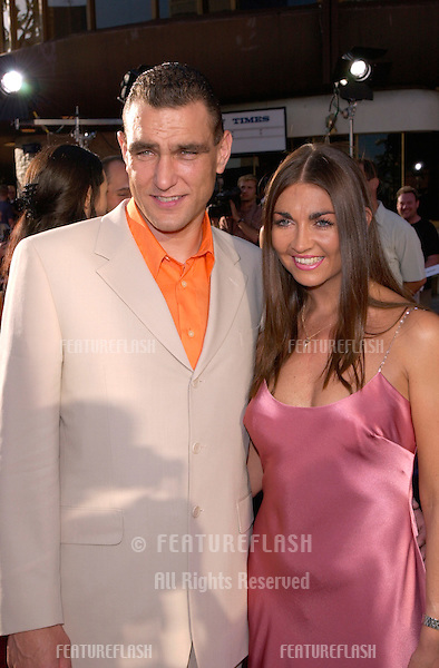 Actor/footballer VINNIE JONES & wife at the world premiere, in Westwood, of his new movie Gone In 60 Seconds.