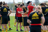 20180301 - LARNACA , CYPRUS :  Belgian Jassina Blom (middle)  pictured during a Matchday -1 training from The Belgian Red Flames prior to their game against Spain , on Thursday 1 March 2018 at the Alpha Sports Grounds in Larnaca , Cyprus . This will be the second game in group B for Belgium during the Cyprus Womens Cup , a prestigious women soccer tournament as a preparation on the World Cup 2019 qualification duels. PHOTO SPORTPIX.BE | DAVID CATRY