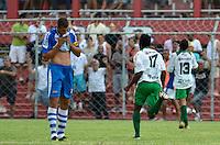 SÃO PAULO, SP, 06 DE JANEIRO DE 2013 - COPA SÃO PAULO DE FUTEBOL JUNIOR - NACIONAL (SP) x TOCANTINÓPOLIS: Atacante do Tocantinópolis (17) comemora gol na partida Nacional (SP) x Tocantinópolis, válida pela primeira fase Grupo Z da Copa São Paulo de Futebol Junior, disputado no estádio Comendador Souza em São Paulo. FOTO: LEVI BIANCO - BRAZIL PHOTO PRESS