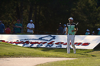 Gainesville, VA - August 2, 2015: Troy Merritt walks to his 2nd shot on hole 16 of the Quicken Loans National at the Robert Trent Jones Golf Club in Gainesville, VA, August 2, 2015. Merritt won the tournament at -18. This was Merritt's first major PGA Tour win.  (Photo by Don Baxter/Media Images International)