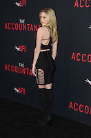HOLLYWOOD, CA - OCTOBER 10: Greer Grammer at The Accountant World Premiere at the Chinese Theater in Hollywood, California on October 10, 2016. Credit: David Edwards/MediaPunch