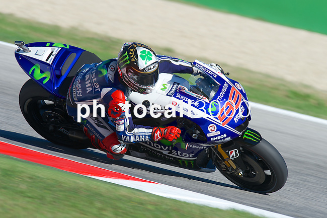 Gran Premio TIM di San Marino during the moto world championship in Misano.<br /> 13-09-2014 in Misano world circuit Marco Simoncelli.<br /> MotoGP<br /> jorge lorenzo<br /> PHOTOCALL3000