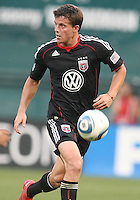 Marc Burch #4 of D.C. United during an international charity match against the national team of El Salvador at RFK Stadium, on June 19 2010 in Washington DC. D.C. United won 1-0.