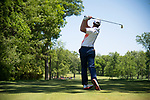 SUGAR GROVE, IL - MAY 29: Nick Hardy of the University of Illinois tees off during the Division I Men's Golf Individual Championship held at Rich Harvest Farms on May 29, 2017 in Sugar Grove, Illinois. (Photo by Jamie Schwaberow/NCAA Photos via Getty Images)