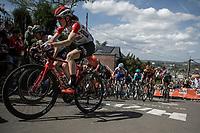 Julie Van de Velde (BEL/Lotto Soudal) up the infamous Mur de Huy.<br /> <br /> 22nd la Flèche Wallonne Féminin 2019 (1.WWT)<br /> 1 Day Race: Huy – Huy 118,5km<br /> women's elite race<br /> <br /> ©kramon
