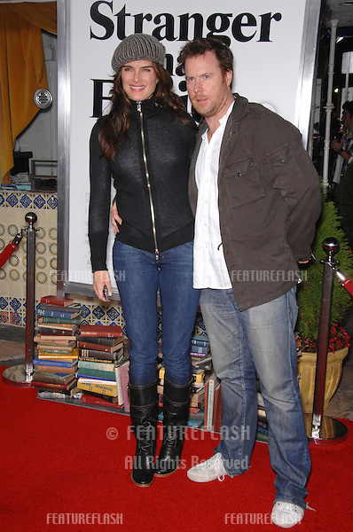 """BROOKE SHIELDS & husband CHRIS HENCHY at the Los Angeles premiere of """"Stranger than Fiction""""..October 30, 2006  Los Angeles, CA.Picture: Paul Smith / Featureflash"""