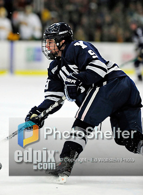 30 November 2009: Yale University Bulldogs' forward Brian O'Neill, a Sophomore from Yardley, PA, in action against the University of Vermont Catamounts at Gutterson Fieldhouse in Burlington, Vermont. The Bulldogs fell to the Catamounts 1-0 in a close rematch of last season's first round of the NCAA post-season playoff Tournament. Mandatory Credit: Ed Wolfstein Photo