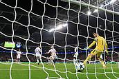 1st November 2017, Wembley Stadium, London, England; UEFA Champions League, Tottenham Hotspur versus Real Madrid; Cristiano Ronaldo of Real Madrid scores making it 3-1