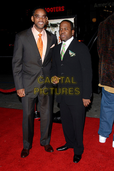 "WILL SMITH & BIG BOI.L.A. Premiere of ""ATL"" held at The Grauman's Chinese Theatre in Hollywood,California on .March 30th, 2006.Ref: DVS.full length blue grey gray suit.www.capitalpictures.com.sales@capitalpictures.com.Supplied By Capital PIctures"