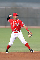 Josciel Veras #6 of the AZL Reds during a game against the AZL Brewers at the Cincinnati Reds Spring Training Complex on July 5, 2014 in Goodyear Arizona. AZL Reds defeated the AZL Brewers, 7-2. (Larry Goren/Four Seam Images)