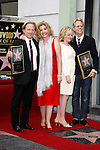 LOS ANGELES - FEB 6: Dewey Bunnell; wife Penny; Gerry Beckley; wife Kathy at a ceremony where their rock band 'America' in honored with a star on the Hollywood Walk of Fame in Los Angeles, California