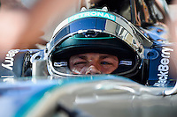 Nico Rosberg of Mercedes AMG Petronas F1 driving (6) Mercedes F1 WO5 Hybrid  in the pit road during second practice session of  2014 Formula 1 United States Grand Prix, Friday, October 31, 2014 in Austin, Tex. (Mo Khursheed/TFV Media via AP Images)