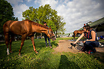 LOUISVILLE, KY - MAY 02: Good Magic and Penelope Miller at Churchill Downs on May 2, 2018 in Louisville, Kentucky. (Photo by Alex Evers/Eclipse Sportswire/Getty Images)