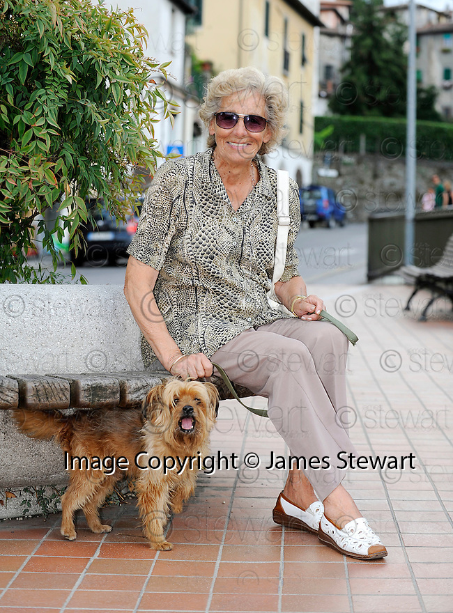 SAGRA DEL &quot;PESCE E PATATE&quot; 2011, BARGA, ITALY<br /> <br /> HILDA PIERI (80) WHO HAS NOW RETURNED TO BARGA AFTER LIVING IN SCOTLAND.