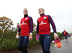 England's Joe Hart and Jordan Pickford look on during training at Tottenham Hotspur training centre, London. Picture date November 14th, 2016 Pic David Klein/Sportimage