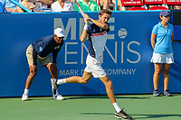Washington, DC - August 4, 2019: Daniil Medvedev (RUS) in action during the Citi Open ATP Singles final at William H.G. FitzGerald Tennis Center in Washington, DC  August 4, 2019.  (Photo by Elliott Brown/Media Images International)