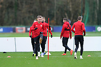 Aaron Ramsey of Wales in action during the Wales Training Session at The Vale Resort, Hensol, Wales, UK. Monday 19 November 2018