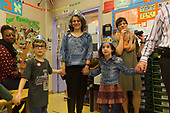 Akiba Schechter Jewish Day School kindergarten students celebrated 100 days of learning about the numbers between one and one hundred Tuesday afternoon, February 22nd, 2017 by inviting friends and family to participate in games and activities that revolve around the number 100.<br /> <br /> 0355 &ndash; Daniel Aranoff, his mother and Akiba Schechter teacher Elisa, Mishka Fridman and Mindy Schiller of Akiba-Schechter Jewish Day School participate in a group game where everyone counts to 100 by 20.<br /> <br /> Please 'Like' &quot;Spencer Bibbs Photography&quot; on Facebook.<br /> <br /> All rights to this photo are owned by Spencer Bibbs of Spencer Bibbs Photography and may only be used in any way shape or form, whole or in part with written permission by the owner of the photo, Spencer Bibbs.<br /> <br /> For all of your photography needs, please contact Spencer Bibbs at 773-895-4744. I can also be reached in the following ways:<br /> <br /> Website &ndash; www.spbdigitalconcepts.photoshelter.com<br /> <br /> Text - Text &ldquo;Spencer Bibbs&rdquo; to 72727<br /> <br /> Email &ndash; spencerbibbsphotography@yahoo.com