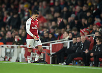 Alexis Sanchez of Arsenal walks of after being substituted during the Premier League match between Arsenal and Newcastle United at the Emirates Stadium, London, England on 16 December 2017. Photo by Vince  Mignott / PRiME Media Images.