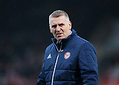 2nd December 2017, Griffen Park, Brentford, London; EFL Championship football, Brentford versus Fulham; Brentford Manager Dean Smith looks on while walking towards the dugout before kick off