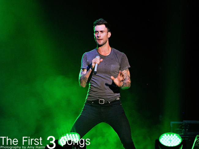 Adam Levine of Maroon 5 performs as part of the Indiana State Fair at Conseco Fieldhouse in Indianapolis, IN on Thursday August 18, 2011.